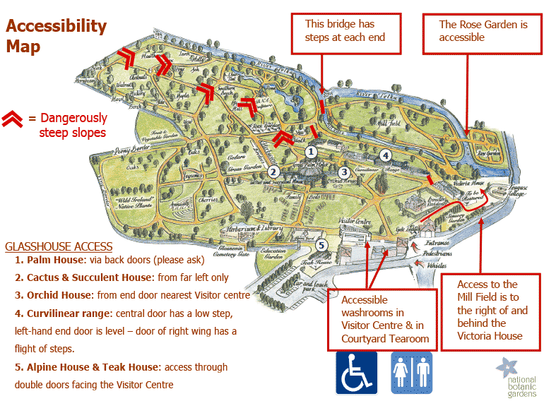click this image to open a PDF file of the botanic gardens glasnevin accessibility map